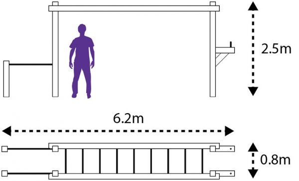Adult monkey bar layout