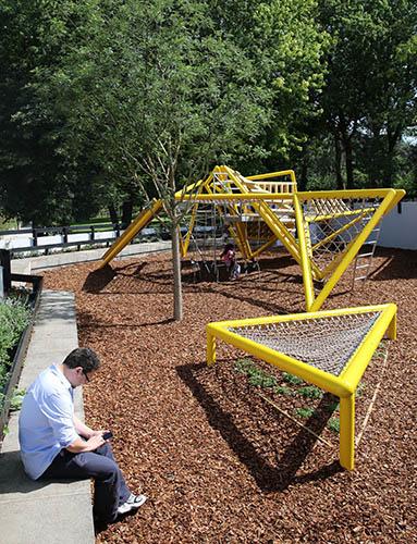 Bespoke metal playground equipment