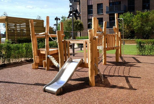 wooden climbing frame equipment bespoke
