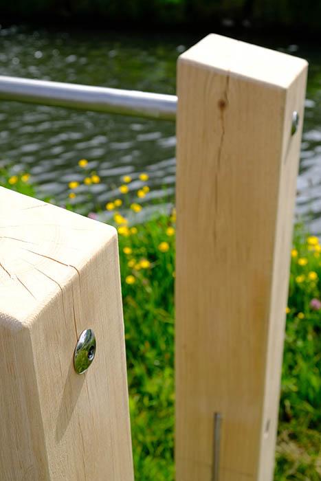 Outdoor wooden dip bars