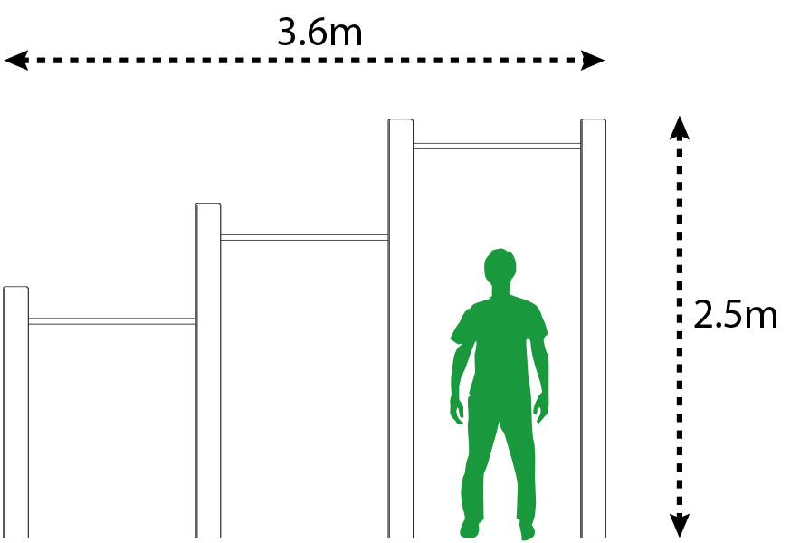 Outdoor Pull-Up Bar Size