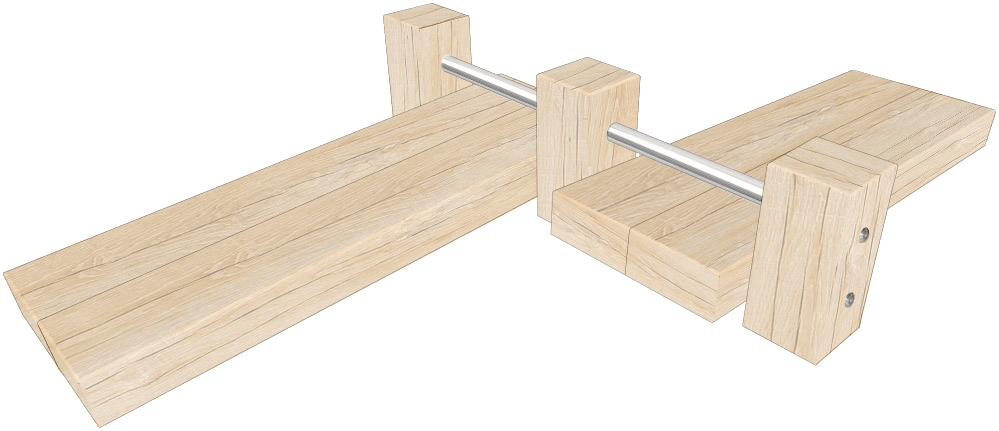 Double Outdoor Sit-Up Bench