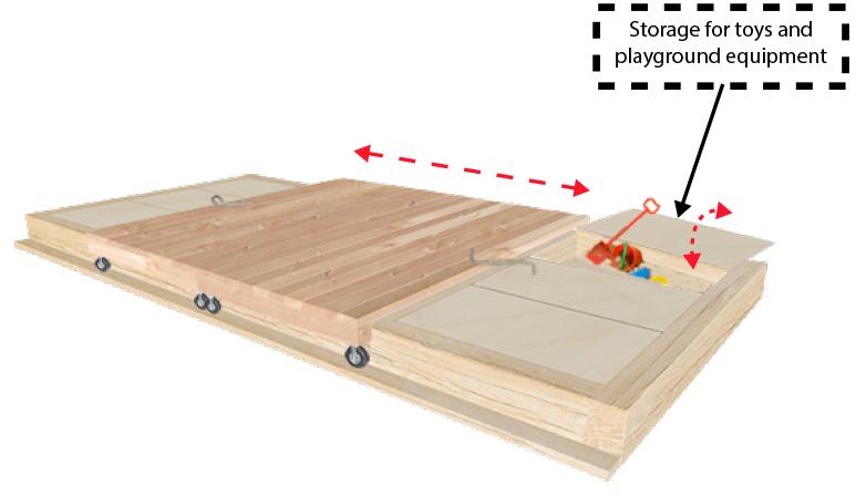 Sandpit storage