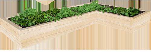 L-shaped Planter