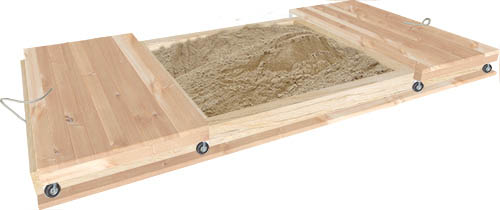 large sandpit with ld