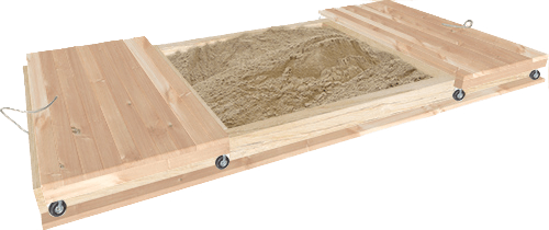 Large sandpit with lid