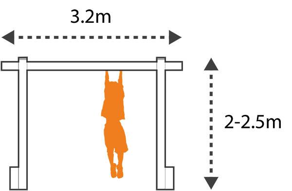 garden monkey bars layout