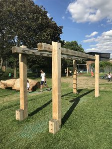 wooden monkey bars