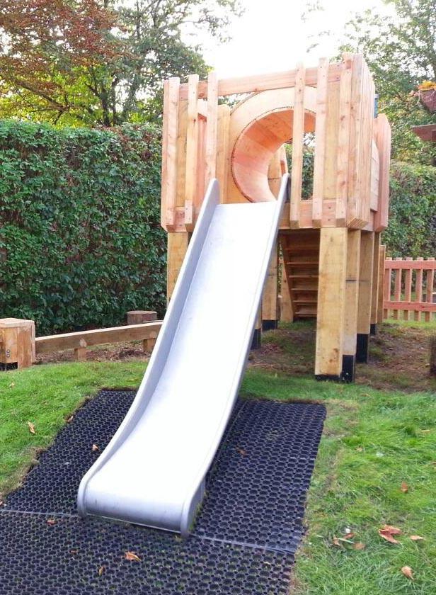 Metal playground slide