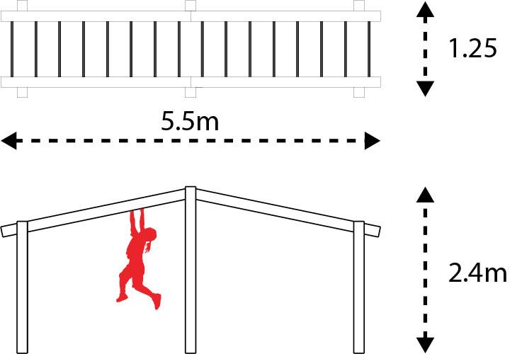 monkey bar set layout