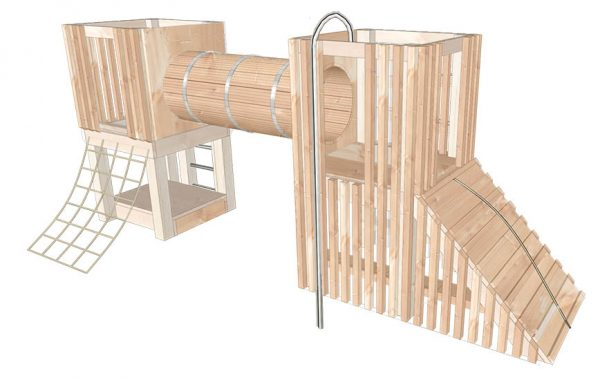 wooden climbing frame render