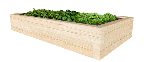 Raised planter for playgrounds