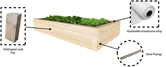 playground planter oak spec