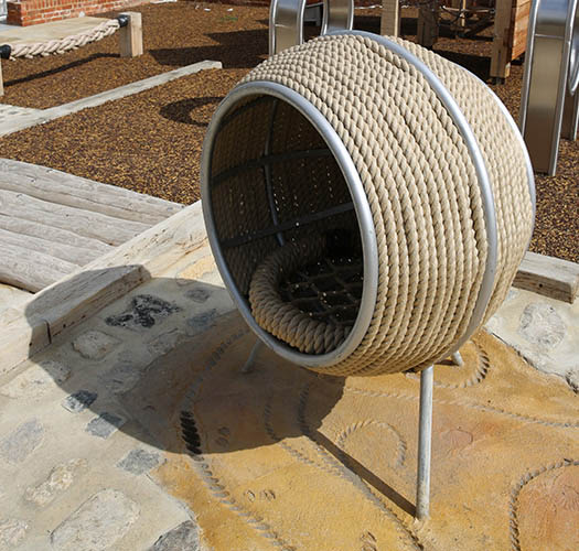 Playground rope cocoon seat
