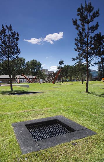 Playground trampoline