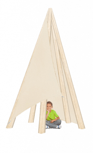 Playground TeePee with Sails