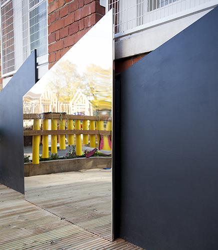 Playground mirrors and blackboards