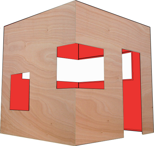 Playhouse Cube Red