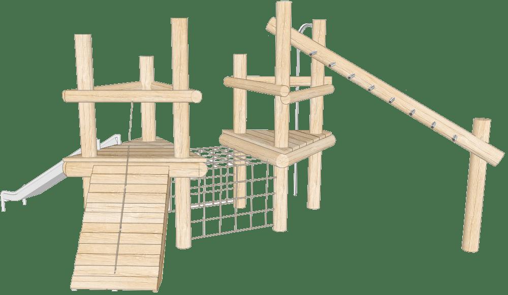Robinia climbing frames view 1