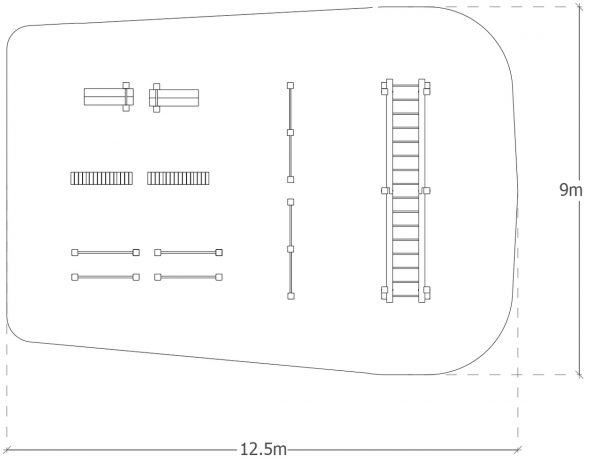 School and park outdoor gym package layout