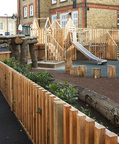Timber playground for nurseries and schools