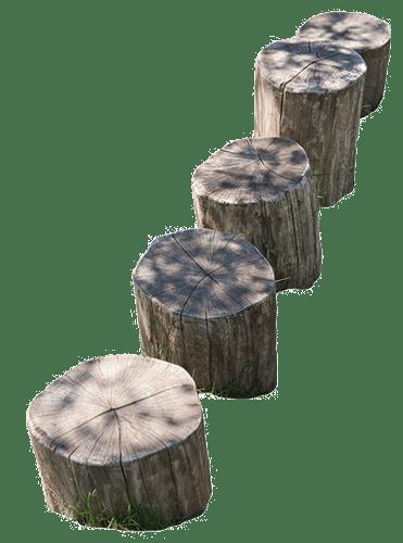 Wooden Playground stumps