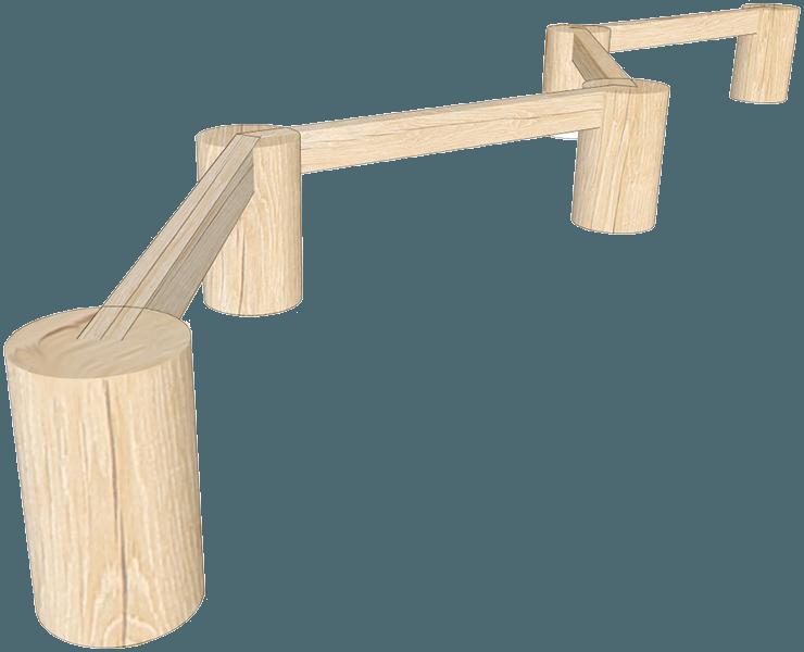 Playground balance log trail