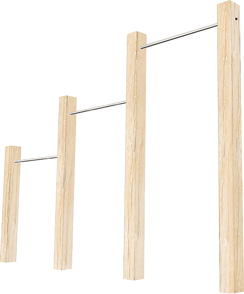 Triple-outdoor-pull-up-bars