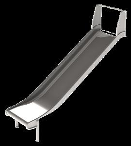 Wide metal embankment slide for playgrounds
