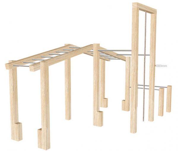 Outdoor wooden gym