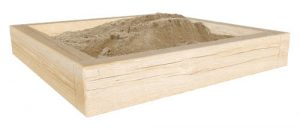 wooden sandpit