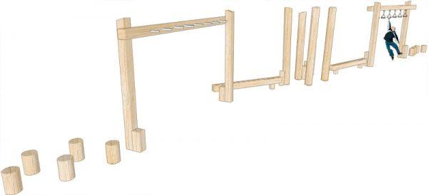 wooden trim trail