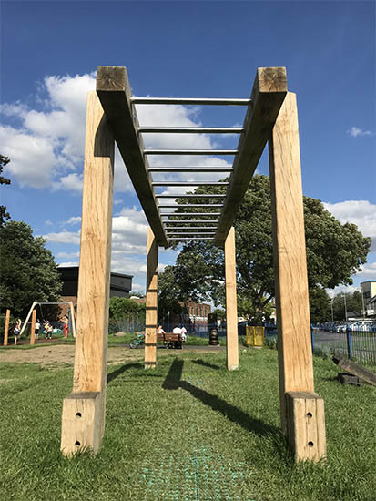 wooden monkey bars photo2