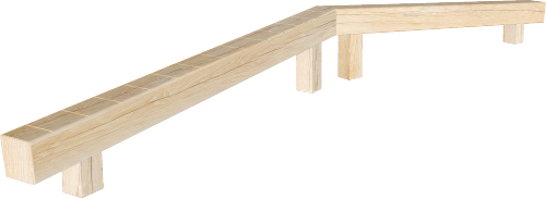 Combination outdoor balance beam