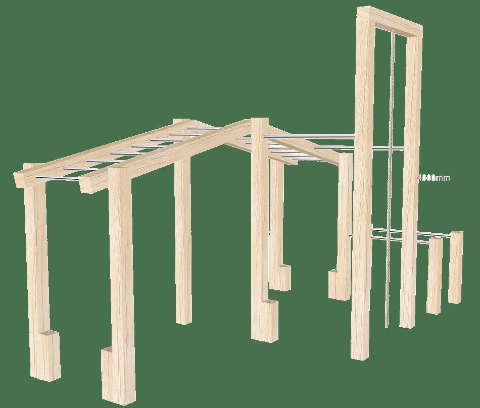 Wooden Outdoor Gym Set