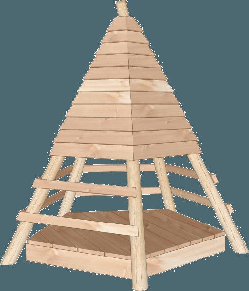 Wooden Teepee