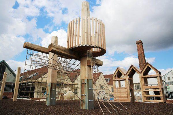 bespoke wooden climbing frame