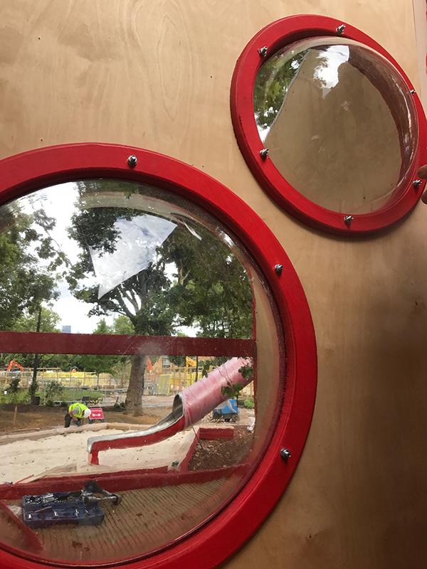Playground bubble window