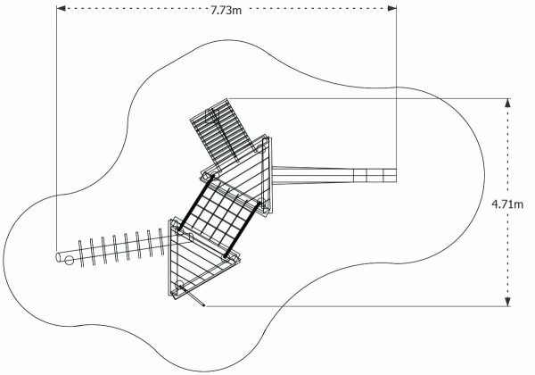 double platform robinia play structure dims