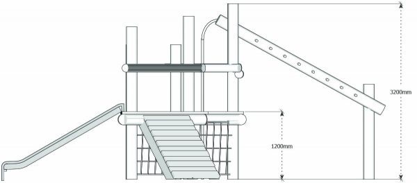 double platform robinia play structure dims ele