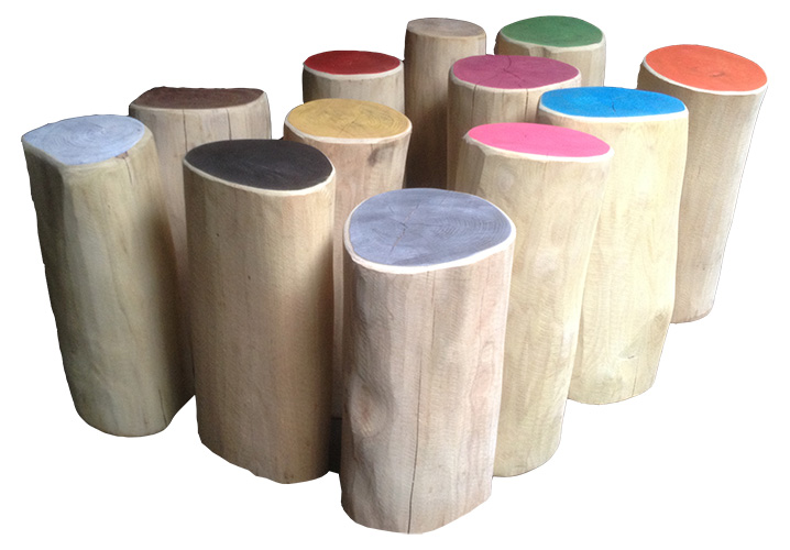 Robinia playground stumps
