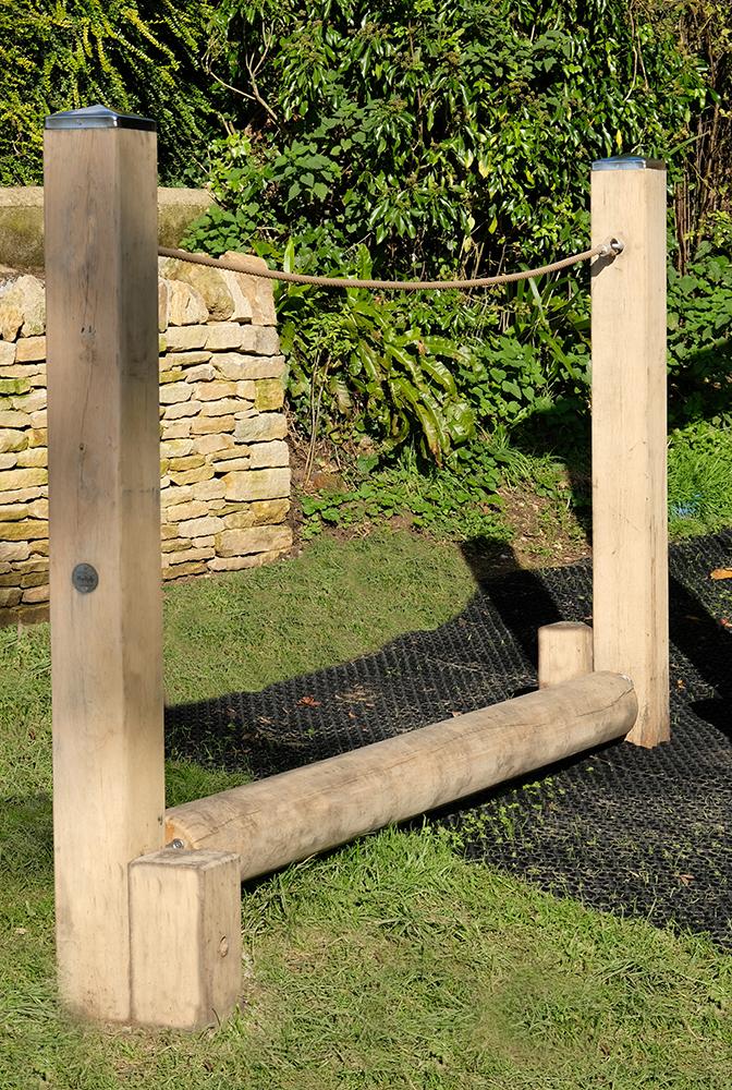 playground rolling log