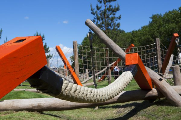 Colourful outdoor play equipment