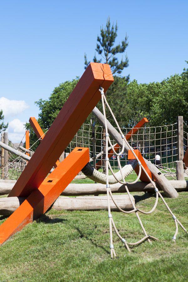 Outdoor play equipment drapers field