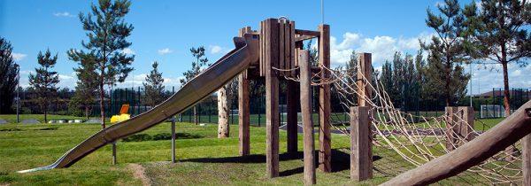 Bespoke outdoor wooden climbing frame