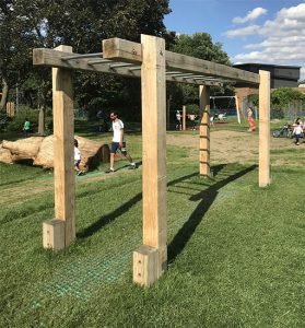 wooden monkey bars photo