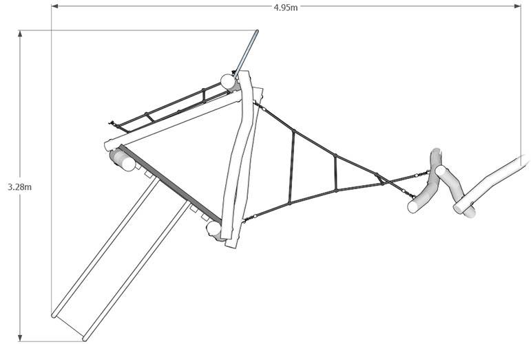 robinia climbing frame plan view