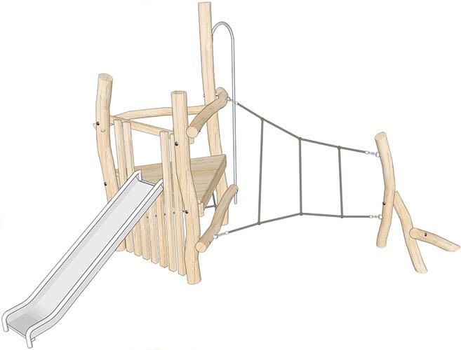 robinia climbing frame