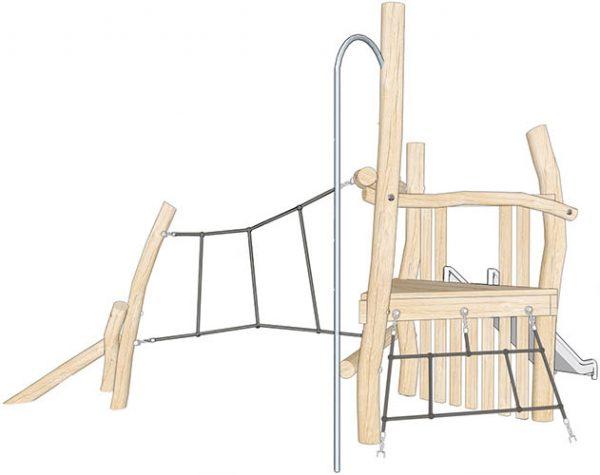 robinia timber climbing frame