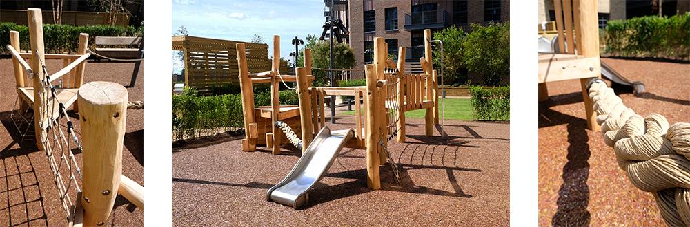 wooden climbing frames